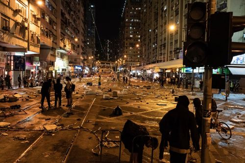 Hong Kong protesters pick up where they left off