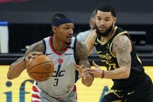 Wizards beat Raptors in OT, Toronto playoff bid nearly over