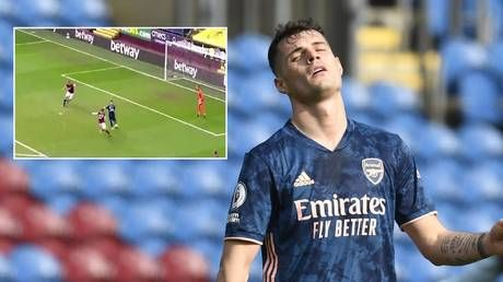 'Never seen anything like it': Fans in disbelief at astounding goal blunder from Arsenal midfielder Xhaka