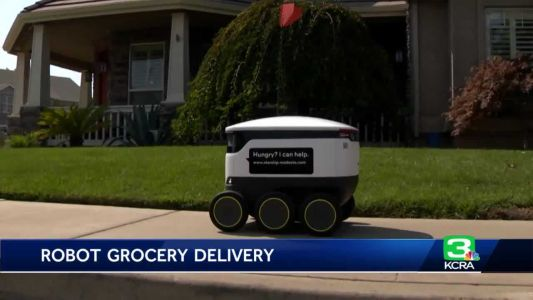 Food delivery robots unveiled in Modesto neighborhood
