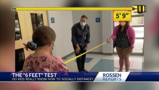 Rossen Reports: Do kids know how far 6 feet really is?