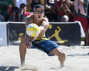 Crabb out , Bourne in for US beach volleyball team