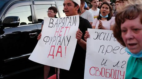 Protest fatigue? Russians lose interest in Khabarovsk rallies: Internet searches drop 82% as numbers on streets dwindle