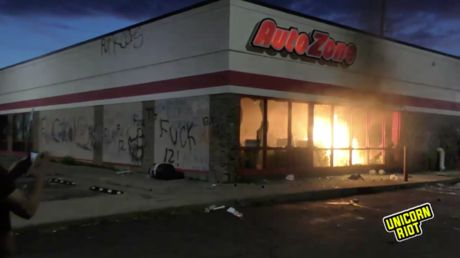 Building set ABLAZE in Minneapolis as police struggle to contain anti-brutality protests