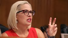 Sinema Slammed For Exaggerated Thumbs-Down On $15 Minimum Wage