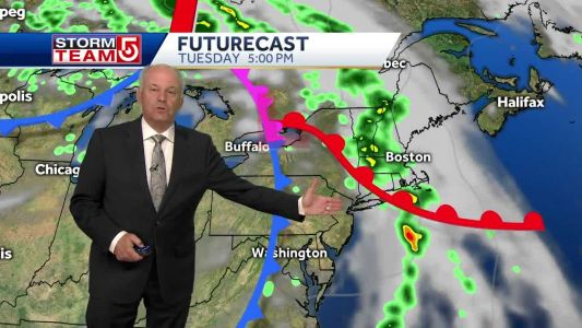 Video: Heavy downpours likely as wet, humid weather moves in