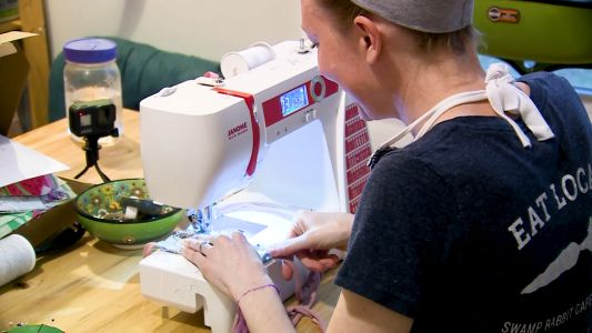 Upstate mothers craft, donate face masks to local businesses