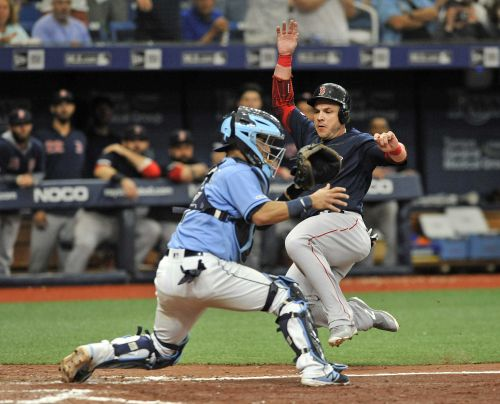 Red Sox edge Rays in extra innings to complete series sweep