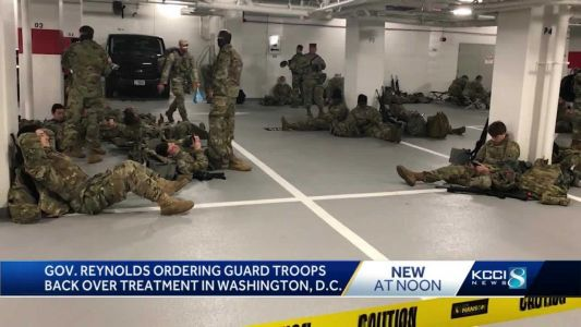 Clearing up confusion: Nebraska National Guard said it was not forced to stay in D.C. parking garage