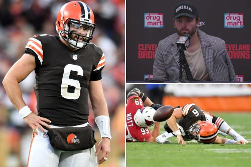 Baker Mayfield plans to play even though shoulder 'feels like s-t'