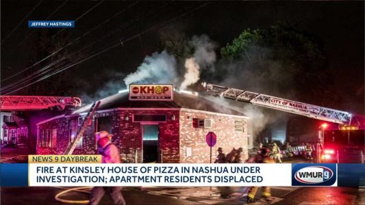 Fire at Nashua pizza restaurant displaces 5 people