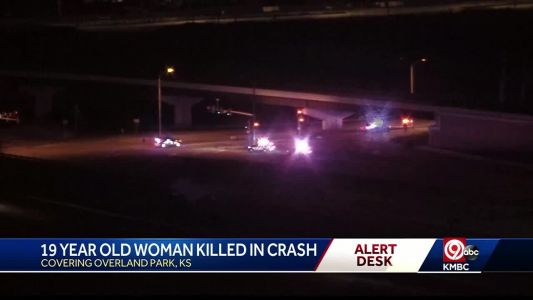 19-year-old dies in crash late Monday in Overland Park