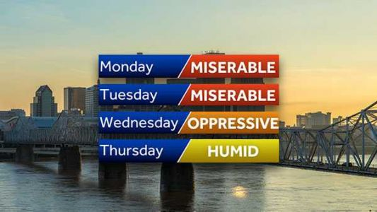 This week will feel mostly humid, miserable, oppressive