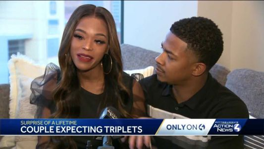 Pittsburgh couple gets surprise of a lifetime: expecting triplets with rare double pregnancy