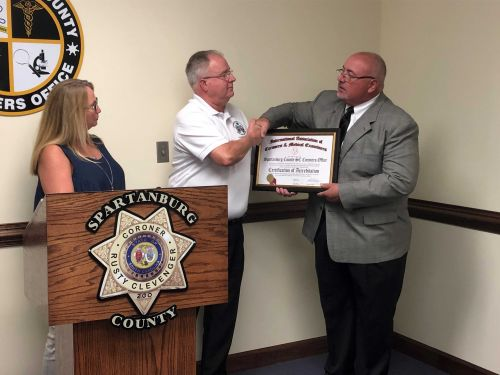 Top honor awarded to Spartanburg County Coroner's Office