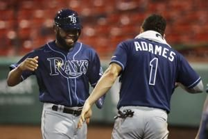 Brosseau's leadoff HR sparks Rays in 8-2 rout of Red Sox