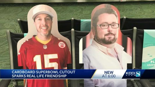 'He was a lot of fun': Cardboard Super Bowl cutout sparks real life friendship that's here to stay