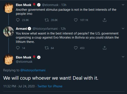 United Tesla Company: Widespread Condemnation of Elon Musk's Bolivia Coup Comments
