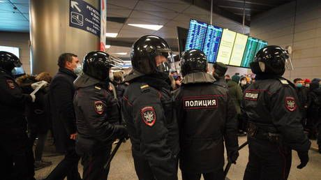 Associates of opposition figure Navalny among several detained at Moscow airport