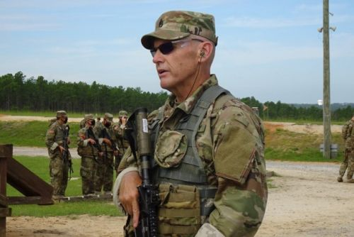 59-year-old basic training grad set to join son's Army unit in South Carolina
