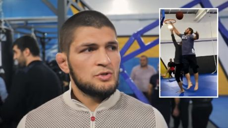'RT if you're calling travel on the champ!' UFC troll Khabib for 'Dagestani basketball' match at new gym