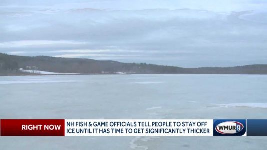 Officials: Ice still not thick enough for walking, snowmobiling