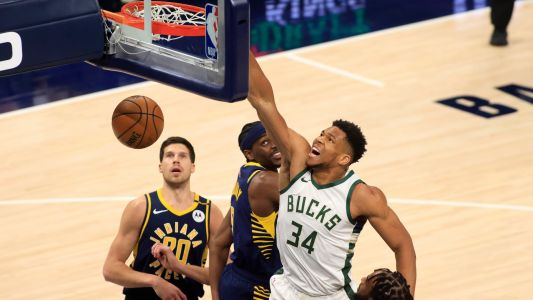 Giannis Antetokounmpo pokes fun at himself after monster dunk: 'I almost pooped'