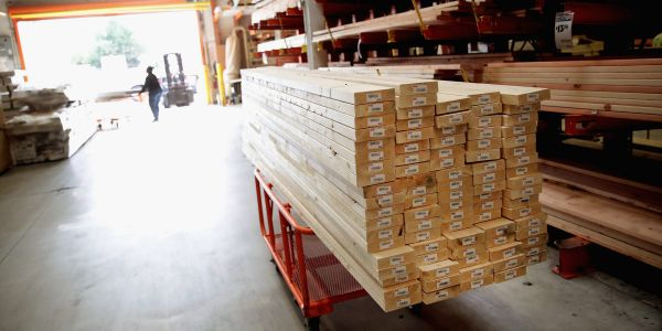 Lumber prices sink below $1,000 for the first time since March, now down 40% since May's record high