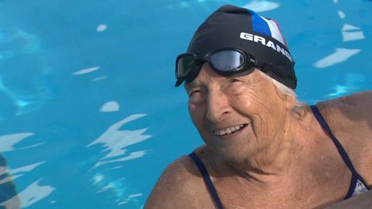 A 99-year-old swimmer's passion for the pool helped her through pandemic, now California's heat wave