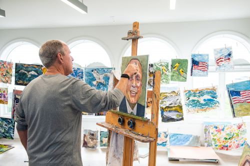 George W. Bush's Newest Portraits Are Political