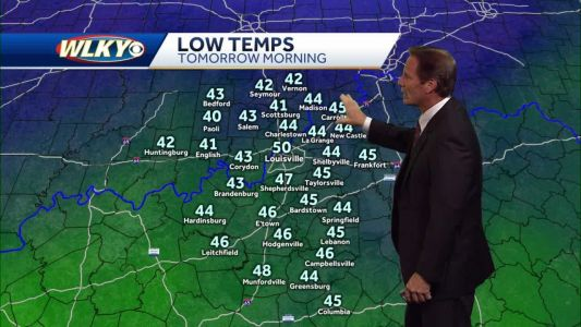 Chilly air settles in for tonight