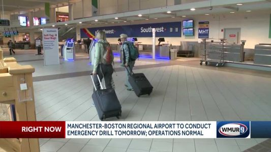 Manchester-Boston Regional Airport to conduct emergency drill Wednesday