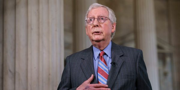 Mitch McConnell says GOP won't strike a deal with Democrats for the US to pay its bills on time, raising risk of derailing the economic recovery