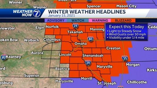 IMPACT WEATHER: Blizzard warning in effect Friday