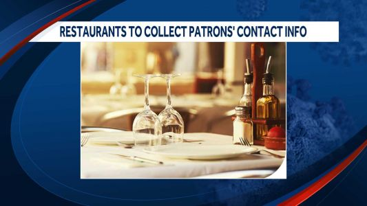 NH restaurants required to collect patrons' contact information
