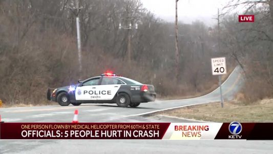 Four people injured, 1 person airlifted to hospital in early morning crash