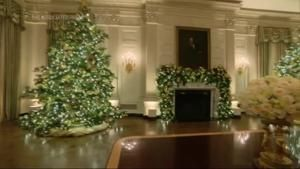 Trump White House unveils final holiday decorations