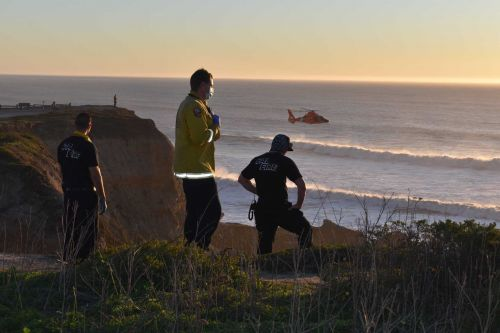 Crews search for boy pulled under by waves, Cal Fire says