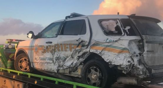 Pottawattamie County deputy injured, but OK, after being hit by semi