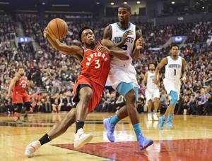 Anonoby scores career-high 24, Raptors beat Hornets 132-96