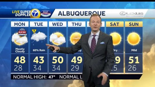 Rain and snow targeting New Mexico