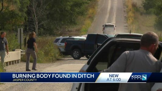 Authorities ID body of man found burning in Jasper County ditch