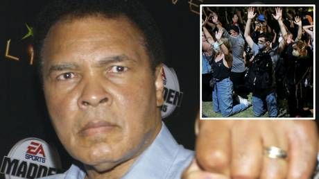 'He never threw a brick:' Muhammad Ali's widow claims boxing legend would have warned crisis-hit America 'we have run out of time'