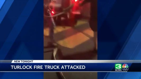 Turlock police investigate fire engine being swarmed during sideshow