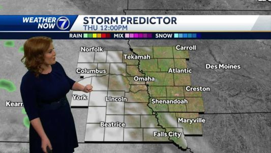 Increasing clouds Thursday, spotty evening showers