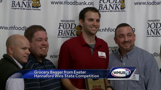 Grocery bagger from Exeter Hannaford store wins state competition