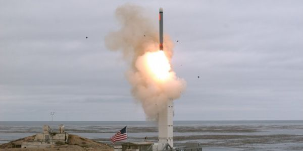 The US fired off a previously banned missile, the first since the collapse of a Cold War-era nuclear arms pact with Russia