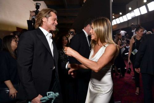 This was Jennifer Aniston's reaction when she found out Brad Pitt watched her SAG speech