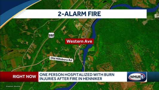 One person hospitalized after apartment fire in Henniker
