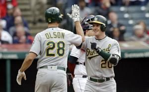 A's place slugger Khris Davis on IL after beating Indians